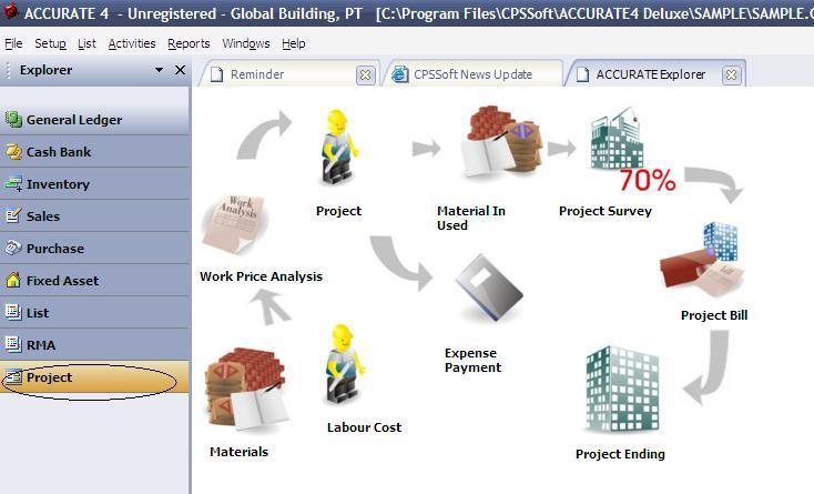 Accurate Accounting - Modul Proyek Kontraktor