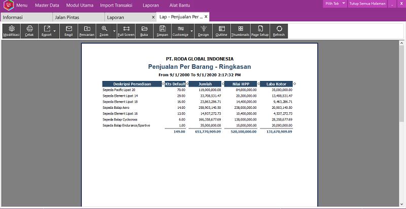 Modifikasi Laporan Easy Accounting System - 6