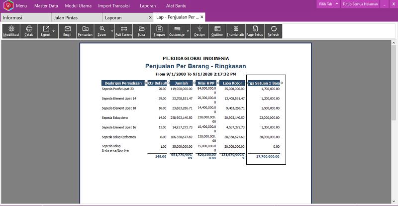 Modifikasi Laporan Easy Accounting System - 9