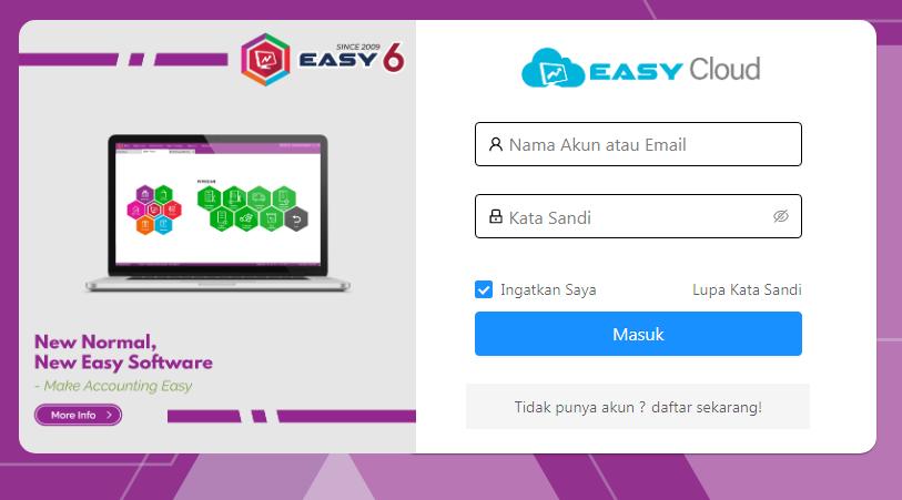 produk baru Easy Cloud - login